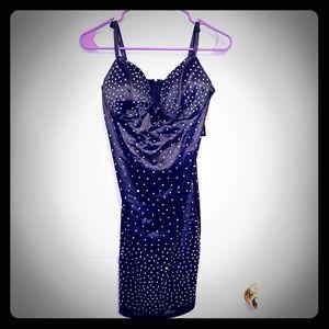 Beautiful Studded Rhinestone Dress NWT L